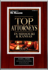 KC Magazine Top Attorney in Missouri and Kansas - Don O'Keefe