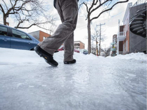Walking on Ice - Illinois Snow and Ice Removal Act