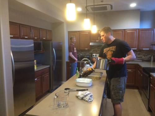 Pitzer Snodgrass Cooking at Ronald McDonald House