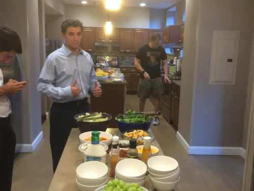 Pitzer Snodgrass Employees Cooking at Ronald McDonald House in St. Louis