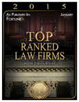 Top Ranked Law Firm, 2015, Pitzer Snodgrass, P.C.