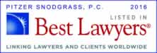 Pitzer Snodgrass, P.C. recognized as Best Lawyer for 2016