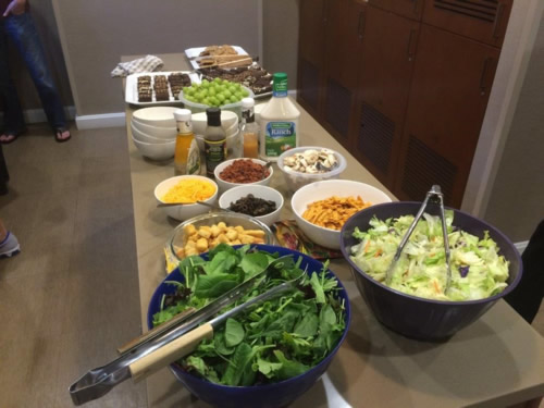 Food prepared by Pitzer Snodgrass at the Ronald McDonald House